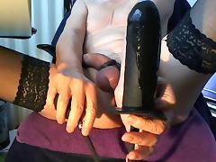 Sissy Slut Anal Play Inflatable Dildo porn tube video
