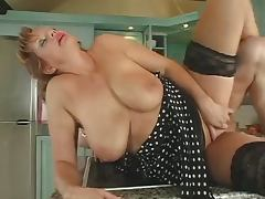 Hot Redhead Russian Milf getting fucked in the kitchen tube porn video