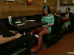 Juliette March gets brutally fucked by a few lewd guys