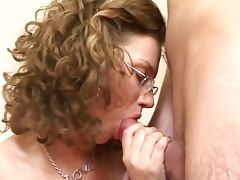 Busty Russian nerd girl in action tube porn video