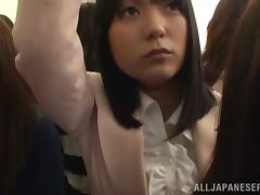 Bus, Asian, Bus, Hairy, Handjob, Japanese