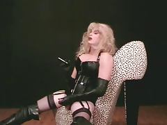 shemale leather boots porn tube video