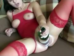 wine bottle porn tube video