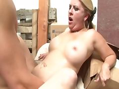 Warehouse CreamPie tube porn video
