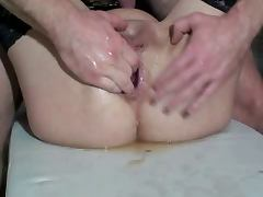 Hot anal fisting