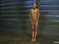 Sexy Skin Diamond gets gagged and toyed in a barn tube porn video