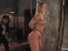 Holly Stevens gets toyed and fucked rough in BDSM vid