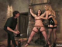 Chubby brunette Raina Verene gets punished hard in BDSM scene