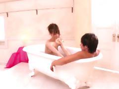 Bath, Asian, Bath, Couple, Japanese, Sucking
