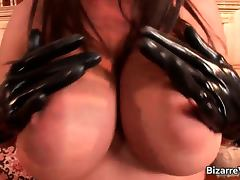Bizarre, Big Tits, Bizarre, Brunette, Fetish, Latex