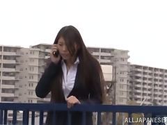 Nice Japanese office girl gets fucked near an elevator tube porn video