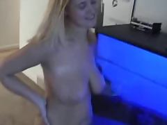 Amateur Blonde Gets Two Loads