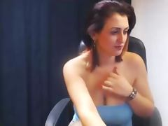 Woman with big tits on cam