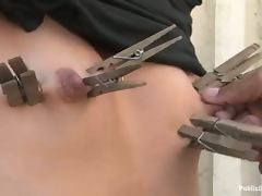 Cassie gets her holes destroyed by a black stud in a park