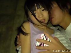 Naughty Ichigo Tominag gets nailed on the beach at night