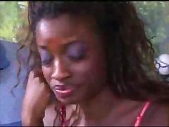 Ebony babe fucking hard