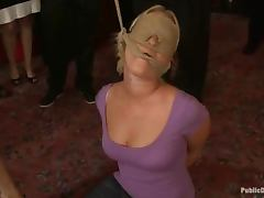 The sect brings in this sexy slave to torture her
