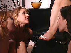 Lesbian orgy with nice foot sucking