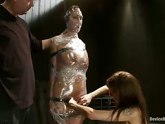 Girl Gets Totally Wrapped Like a Mummy in Extreme Bondage Video porn tube video