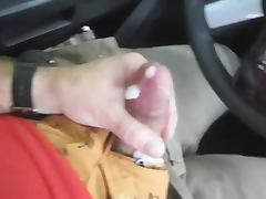 Jerking in the car porn tube video