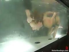 Stunning Sierra Sinn gets tortured in water bondage vid