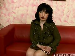 Fine mature lady is sweating with her son's friend tube porn video