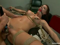 Chanel Preston gets her ass torn up by James Deen in BDSM clip tube porn video