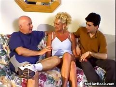 In this interracial hardcore MMF threesome you tube porn video