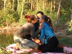 3 girls in the forest tube porn video