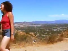 Outdoor Voyeur Fuck For Sabara And Her Dark Dude