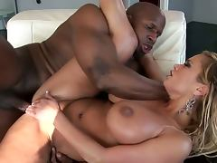Busty blonde milf shyla stylez with big black dick