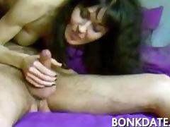 Sexy MILF sucks and rides cock