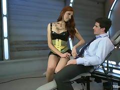 Beautiful tranny Jenna Rachels slams Tyler Alexander's tight butt