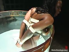 Ebony Jada Fire gets humiliated in water bondage video