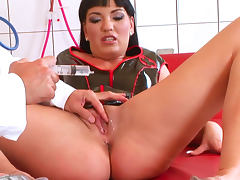 Brunette Jenis King being fucked by doctor