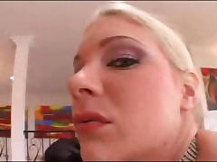 Delicious blonde fucking her amazing large ass