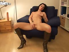 Slim Radka toys her vagina and then gets fucked hard