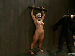 Nipple Torture for Big Breasted Blonde Kait Snow in BDSM Vid tube porn video