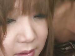 Pervert Asian babe Mizuki Ishikawa pussy licked and pounded to orgasm