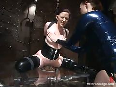 Kinky girl gets humiliated and clothespinned by another girl