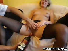 Amateur girlfriend gets toyed and fucked by 2 guys tube porn video