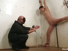 Amber Rayne gets toyed and humiliated by a guy in mask