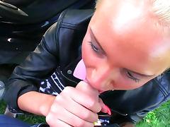Cute blonde Iva in a sex for cash scene