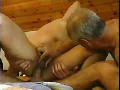 Papa Old Man Watches Youthful Hunk Fuck His Wife