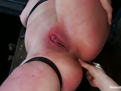 Sarah Shevon the kiny bitch enjoys rough BDSM action