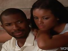 Cute Ebony Couple Fucking Like Their Lives Depended On It
