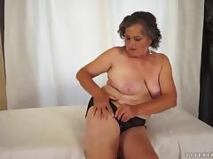 Horny BBW Granny Getting Her Hairy Pussy Fucked Hard tube porn video
