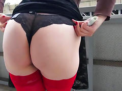 Sexy babe with big tits is riding on the big dick