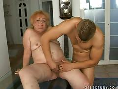 Army grandma bends over for a fresh portion of a cock porn tube video