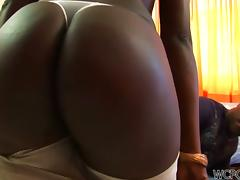 Fine big black Brazilian ass getting pounded tube porn video